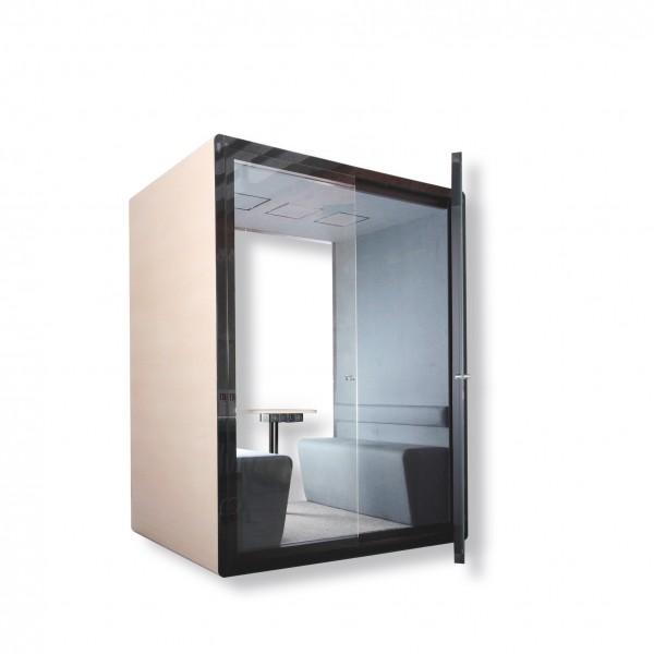 Schalldichter Raum im Raum als Telefonzelle, als Cube oder Pod, für Großraumbüros, offen