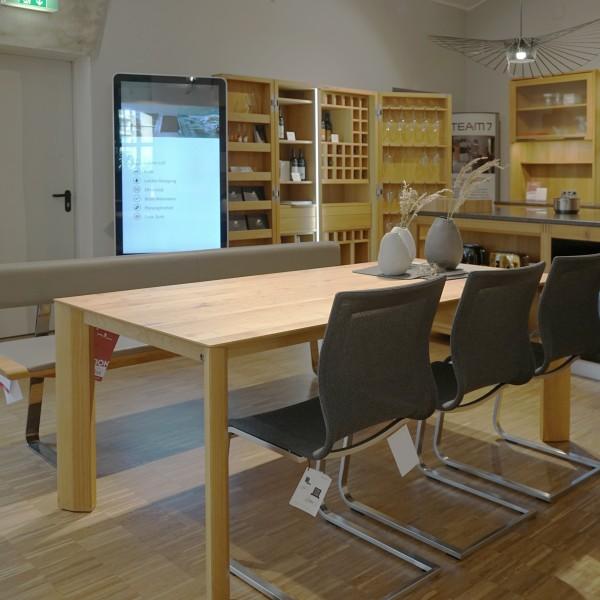 Auszugtisch, Massivholz, Chemnitz, Scholtissek, Möbelhaus Chemnitz, Esszimmer, Tisch