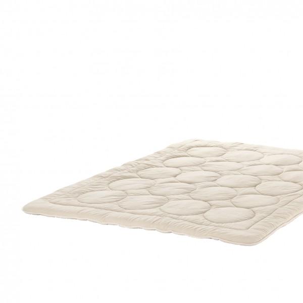 leichte Zudecke Bettdecke aus Schafschurwolle Trikot Wolle Natur und natürlich