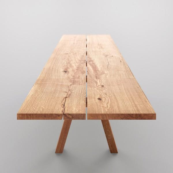 Designer Massivholztisch von Vitamin Design, Natur Möbel aus dem Möbelhaus Chemnitz, Tuffner Möbelgalerie