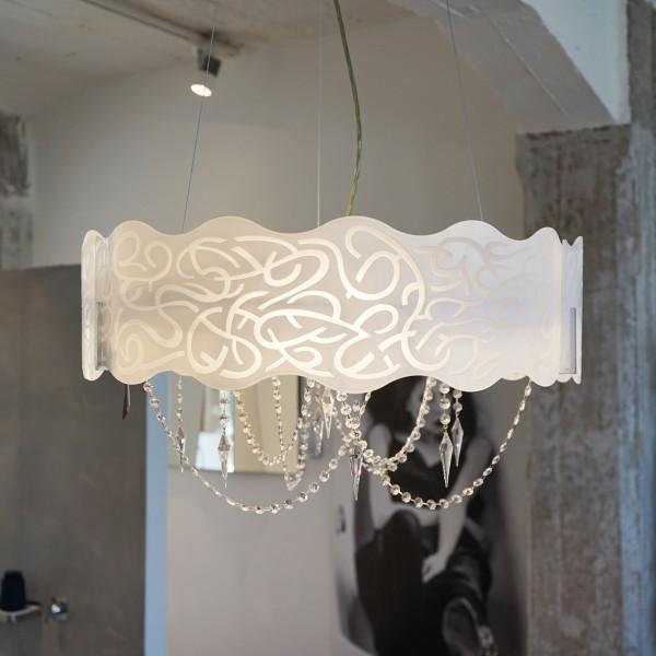Designer Hängeleuchte Marea aus Kristall Glas von Svarowski aus dem Möbelhaus Chemnitz, Tuffner Möbelgalerie